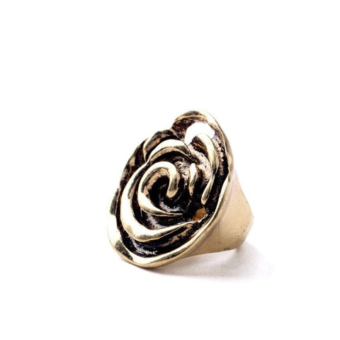 METTALIKA ROSE STATEMENT RING - SWANL