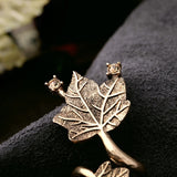 GOLD PLATED MAPLE LEAF RING - SWANL