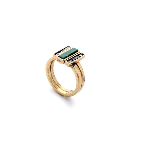 OCCIDENT RETRO 2 RING SET - SWANL