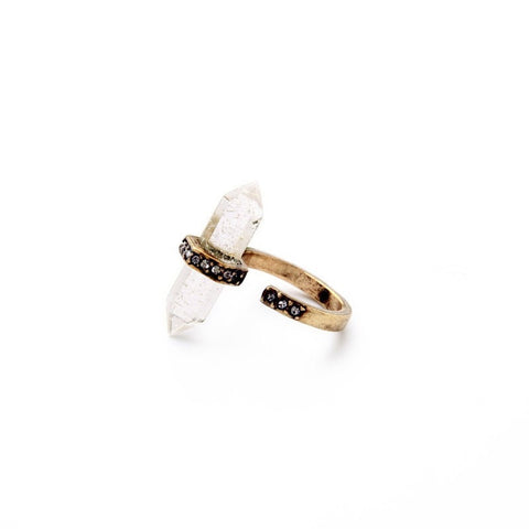 CLEARLY MODERN IRREGULAR NATURAL STONE RING - SWANL