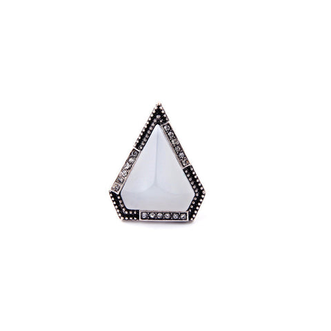 WHITE PYRAMID TRIANGLE RING - SWANL
