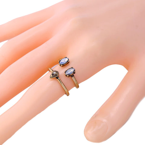5pcs set Vintage Antique Gold Color Rings