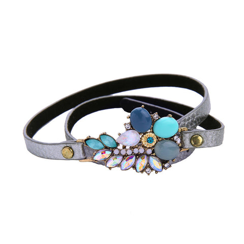 UTOPIAN LEATHER CHARM BRACELET - SWANL
