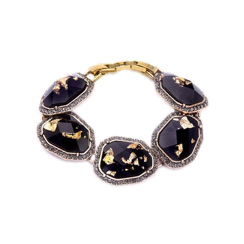 GOLD FLAKE STATEMENT BRACELET | SWANL