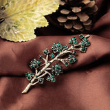 NEW YORK RETRO GREEN BRANCH BROOCH - SWANL
