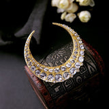 MOON GOLD PLATED BROOCH - SWANL