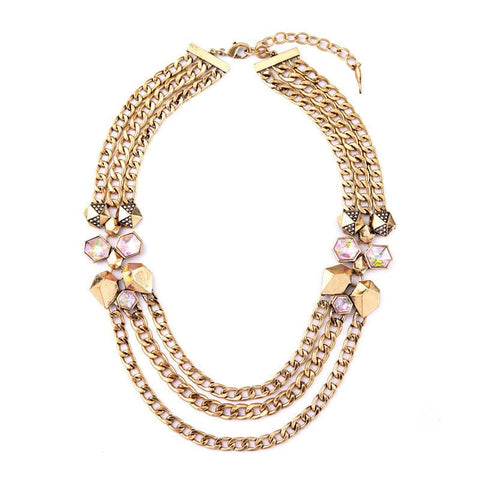 PRECIOUSLY STATEMENT NECKLACE - SWANL