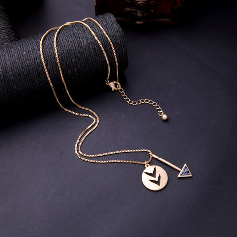 Fline Arrow Pendant Necklace