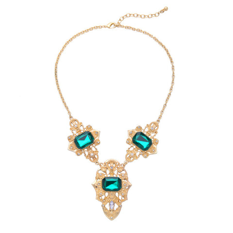 One Plus Three Emerald Collar Necklace