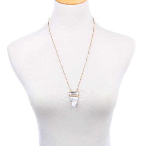 Suzie Marble Triangle Pendant Necklace | SWANL