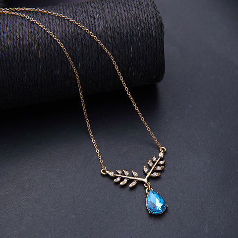 Drop Water Pendant Necklace | SWANL