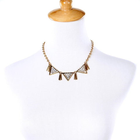 BEZEL STATEMENT NECKLACE | SWANL