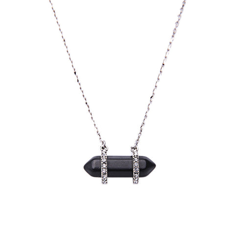 TRINKER BLACK PENDANT NECKLACE - SWANL