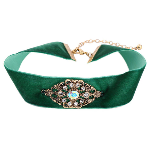 ROYALTY QUEEN GREEN CHOKER | SWANL