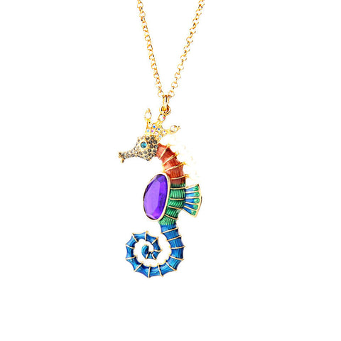Sea Horse Pendant Necklace | SWANL