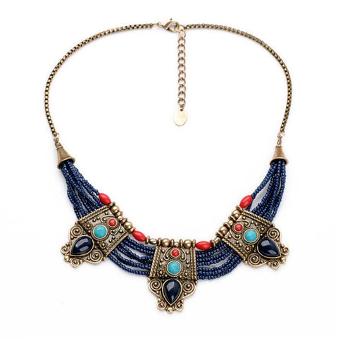 ETHNIC EUROPE STATEMENT NECKLACE - SWANL