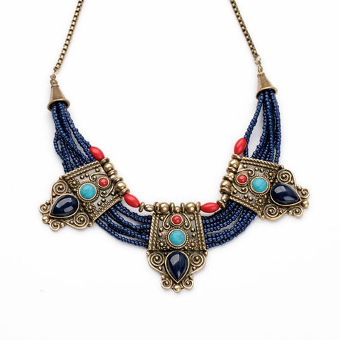 ETHNIC EUROPE STATEMENT NECKLACE | SWANL