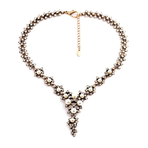 LUCY PEARL STATEMENT NECKLACE | SWANL