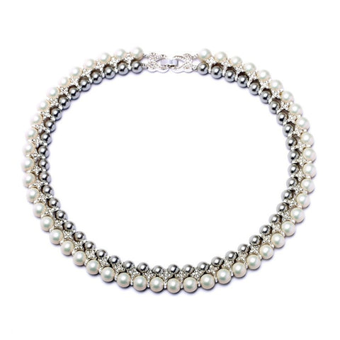 LUNA PEARL STATEMENT NECKLACE - SWANL