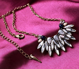GLASS FEATHERS PENDANT NECKLACE | SWANL