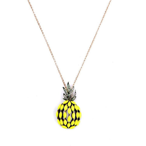 PINE CRUSH HOLLOW PENDANT NECKLACE - SWANL