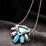 HAWAII AQUA VIV PENDANT NECKLACE - SWANL