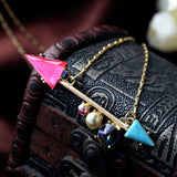TWIN ARROW PENDANT NECKLACE - SWANL