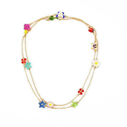 PATRIKA BLOOM STATEMENT NECKLACE - SWANL