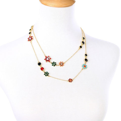 LOVE TIDE BLOOM LAYER NECKLACE | SWANL
