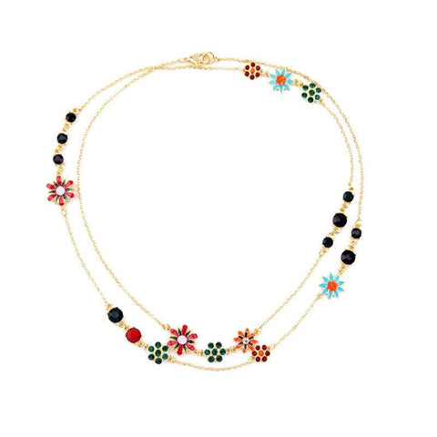LOVE TIDE BLOOM LAYER NECKLACE - SWANL