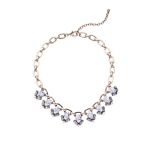 MARBLE VOGUE STATEMENT NECKLACE - SWANL