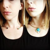 TURQUOISE BLAZE STATEMENT NECKLACE | SWANL