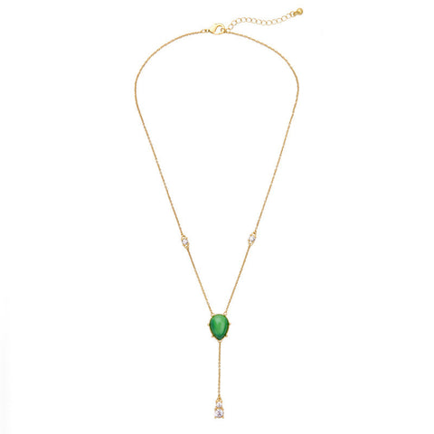 Adorable Green Waterdrop Pendant Necklace