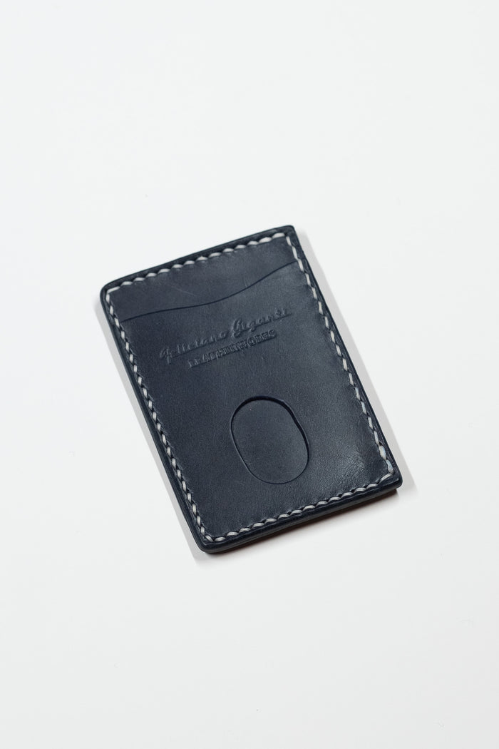Minimalist Wallet in Black English Bridle Leather