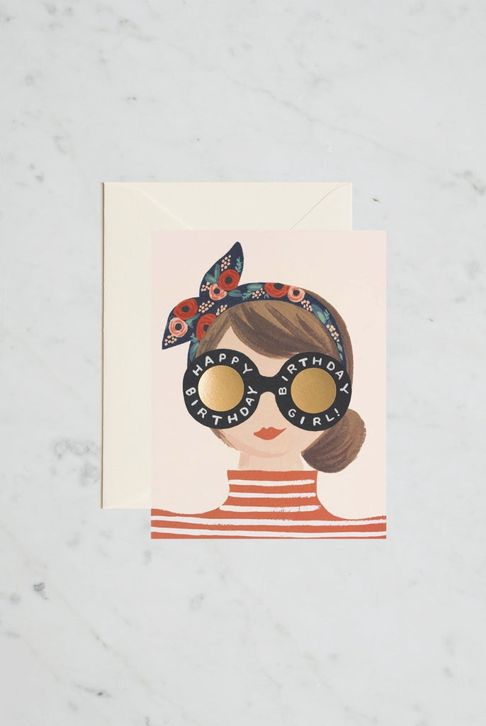 Greeting Card - Birthday Girl Stripes