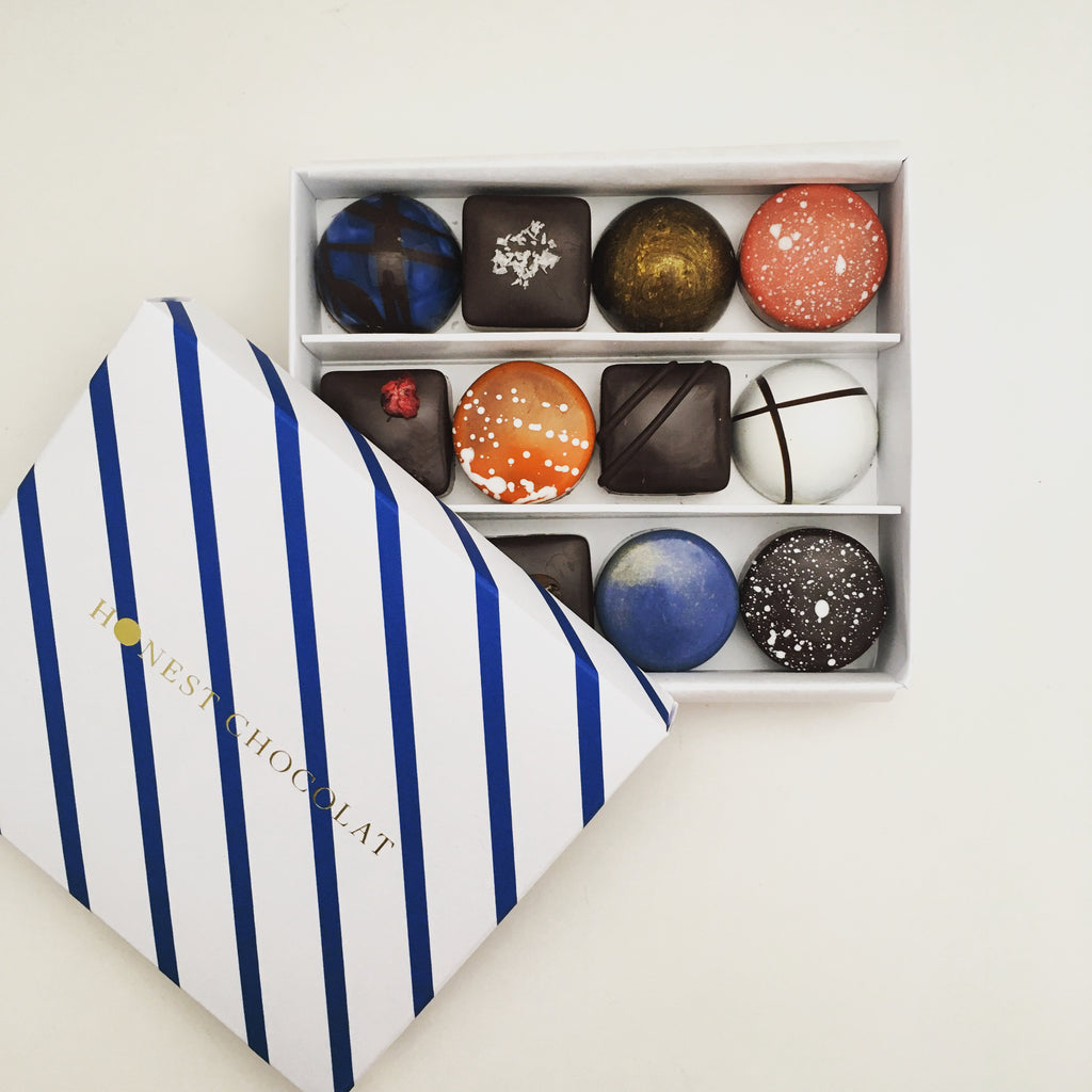 selection of 12 bonbons