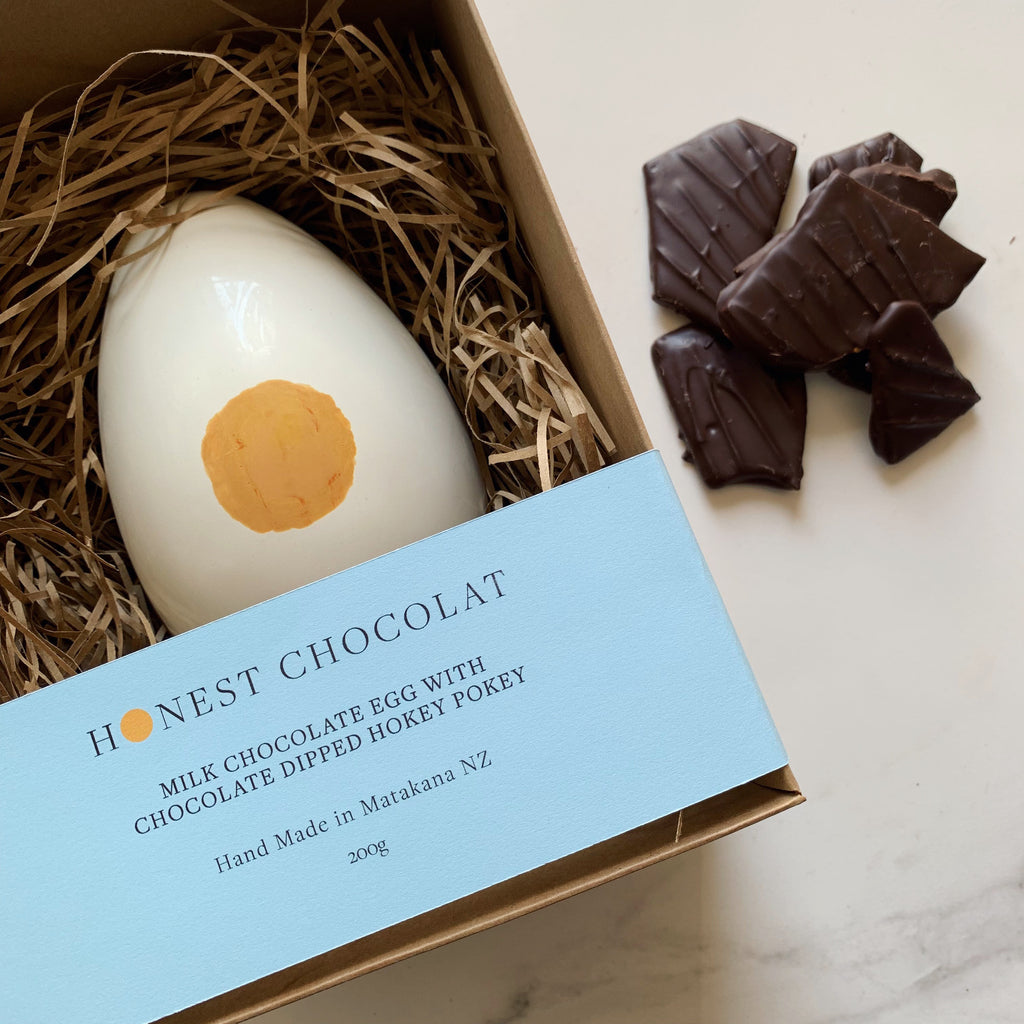 'Yolk' Milk Chocolate Egg with Chocolate Hokey Pokey