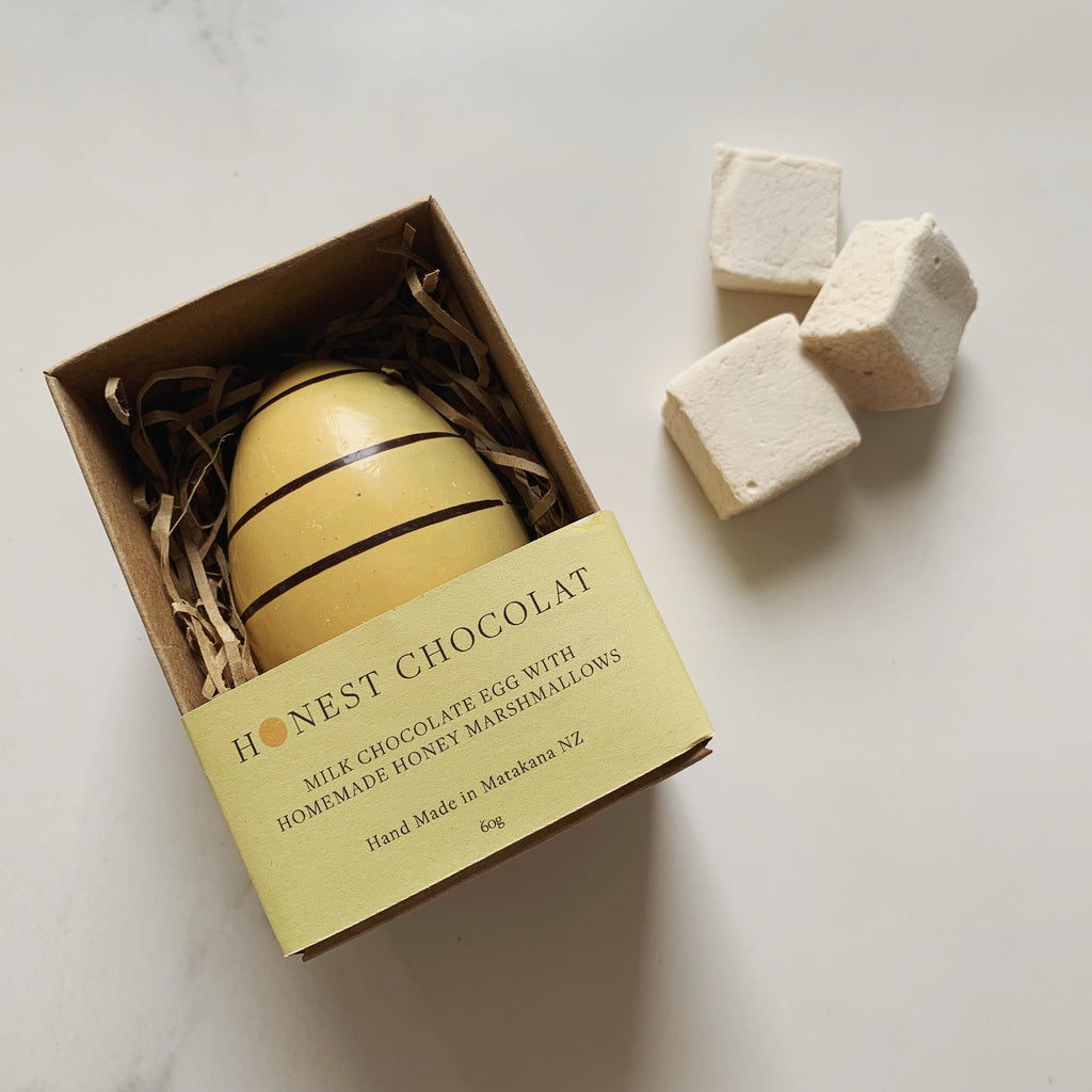 'Bumble Bee' Milk Chocolate Egg with Honey Marshmallows