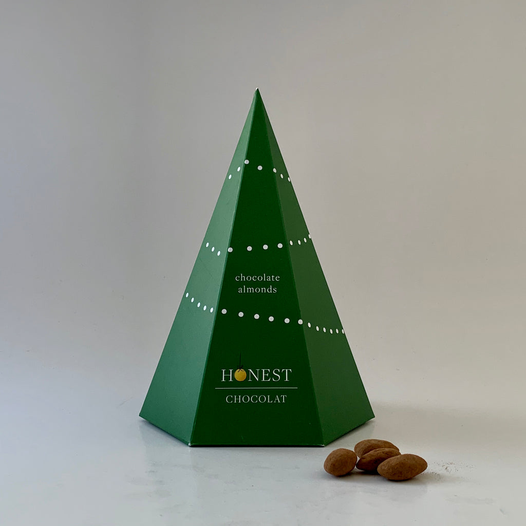 Chocolate Almonds Christmas Tree