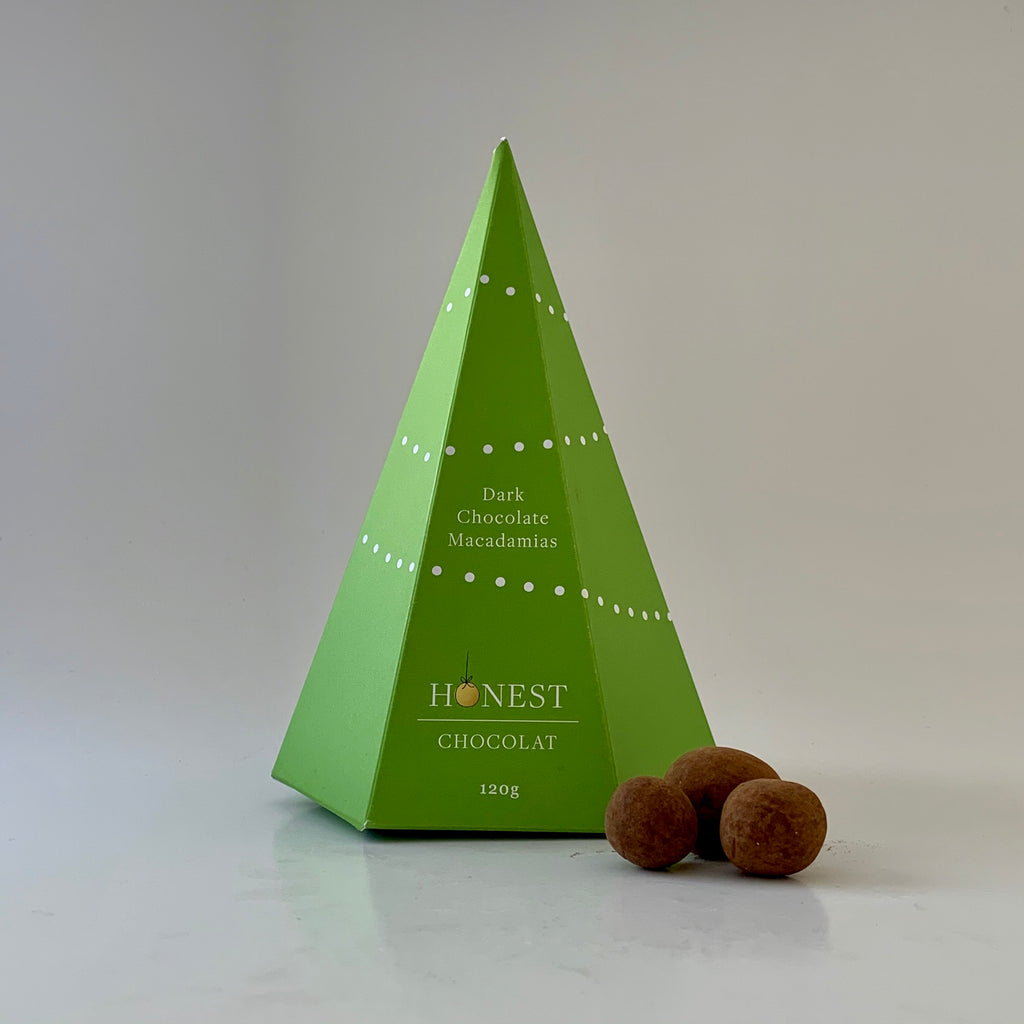 Chocolate Macadamias Christmas Tree