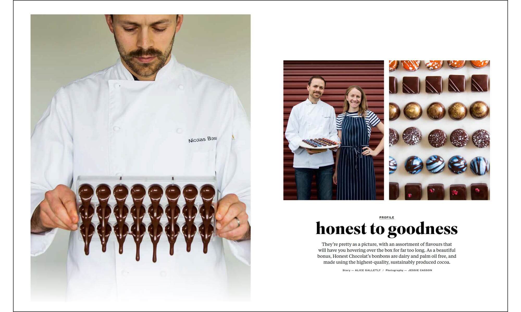 Article about Honest Chocolat