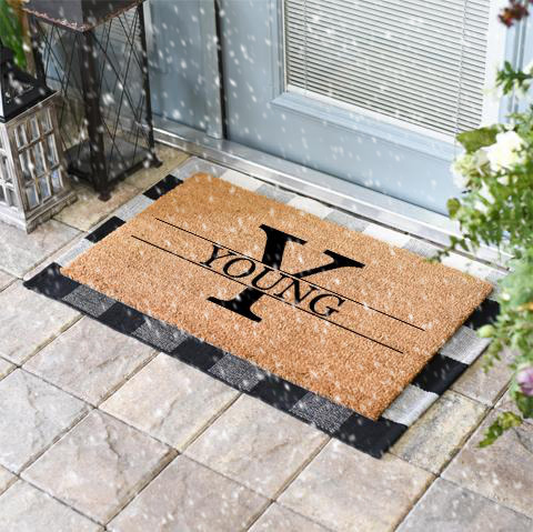 Personalized Classic Coir and Duracoir Doormats