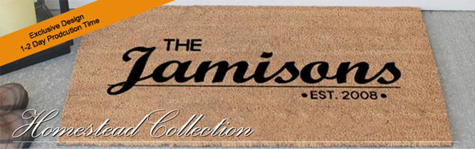 Personalized Classic Coir Doormats From The Personalized