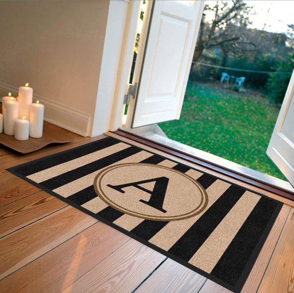 Farmhouse Doormat Black Carpeted - The Personalized Doormats Company