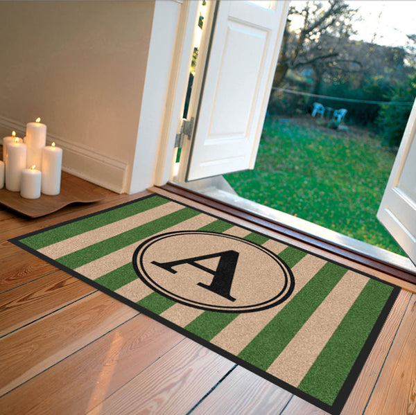 Farmhouse Doormat Green Carpeted - The Personalized Doormats Company