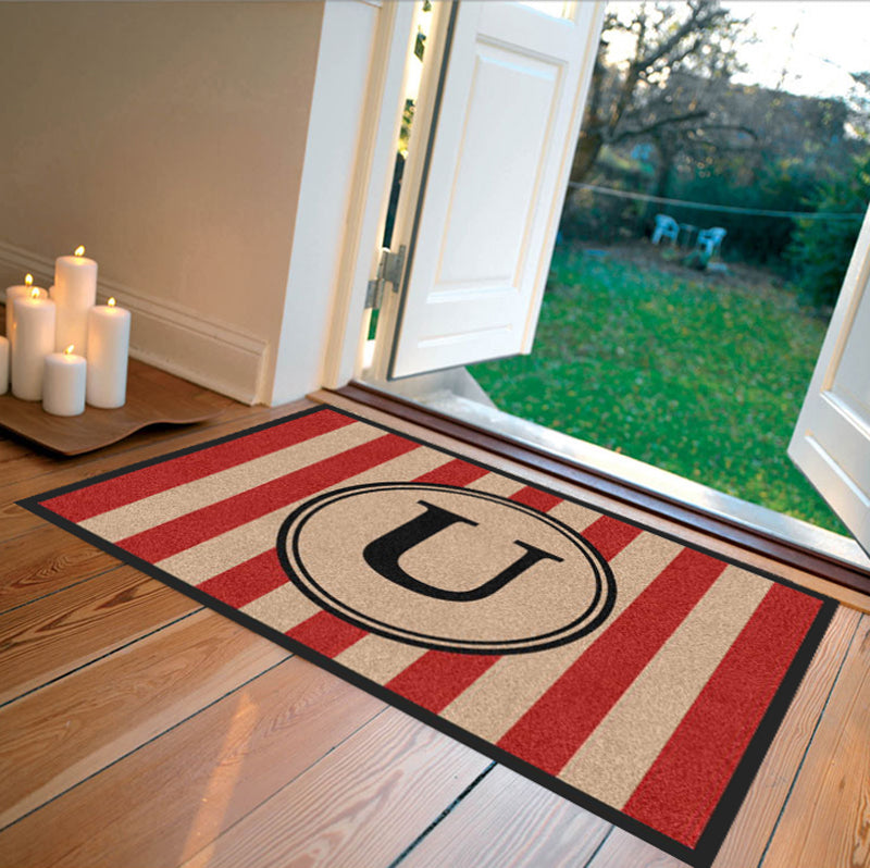 Farmhouse Doormat Red Carpeted - The Personalized Doormats Company