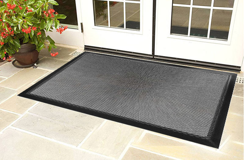 Back Outside Long 4 X 6 Luxury Berber Inlay   The Personalized Doormats  Company ...