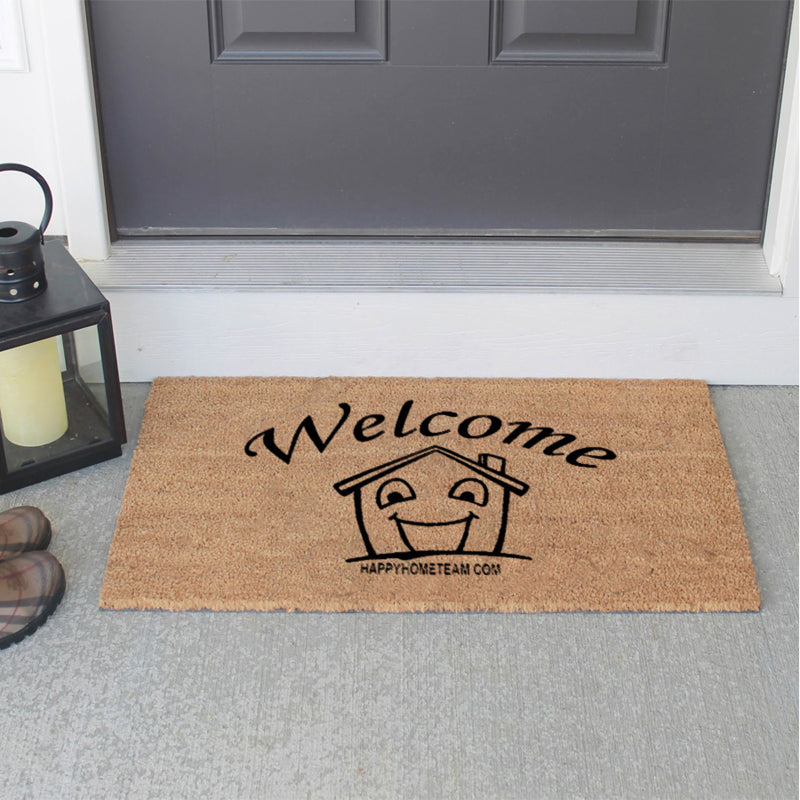 Happy Home Team Doormat 18 X 30 Flocked Classic Coir (PDC) - The Personalized Doormats Company