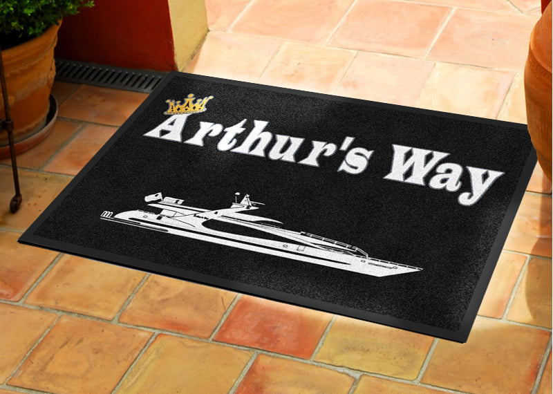 Arthur's Way 2 X 3 Rubber Backed Carpeted HD - The Personalized Doormats Company