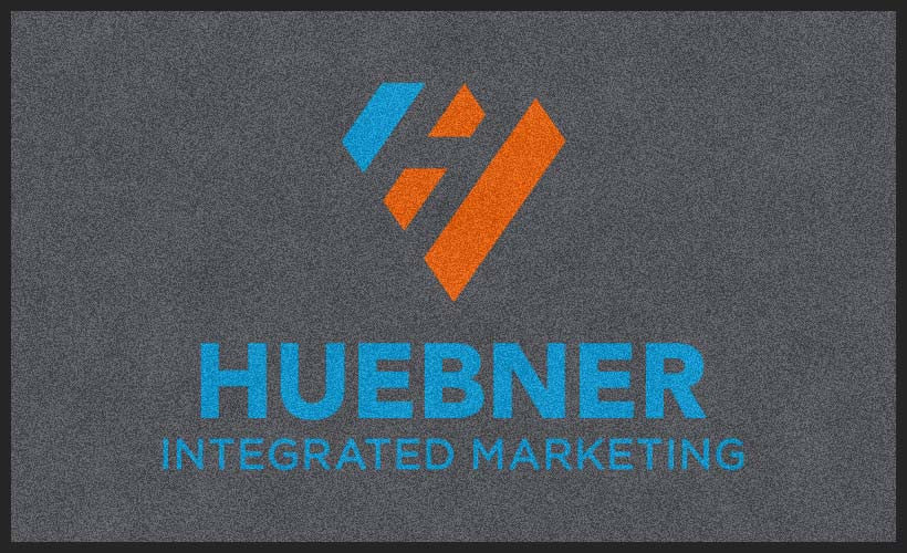 Huebner Marketing 3 X 5 Flocked Olefin 2 Color - The Personalized Doormats Company
